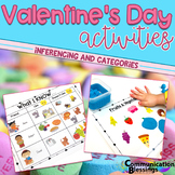 Valentines Day Inferencing Activities, Early Sounds, and Sorting Categories