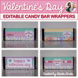Valentine's Day Editable Candy Bar Wrappers