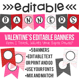 Valentine's Day Editable Doodle Banners