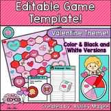 Valentine's Day Editable Game Template
