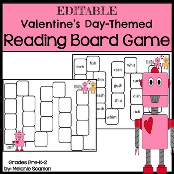 Valentine's Day Editable Reading Game