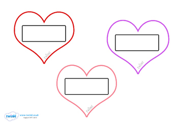 Valentine's Day Editable Self Registration Hearts