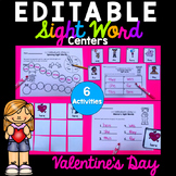 Valentine's Day Editable Sight Word Activities