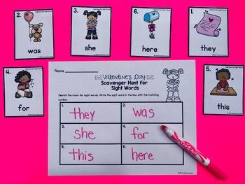 Valentine's Day Editable Sight Word Activities