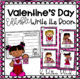 Valentine's Day- Editable Write the Room