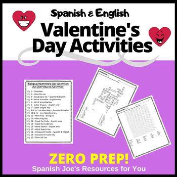 Valentine's Day - El Día de San Valentín - ZERO PREP Activities