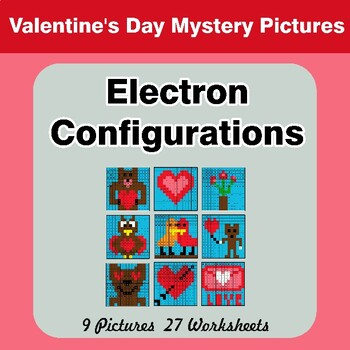 Valentine's Day: Electron Configurations - Mystery Pictures