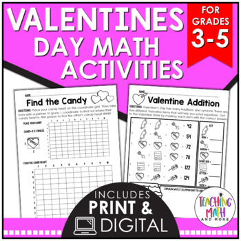 Valentines Day Math Activities Grade 5 | Valentines Day Math Worksheet Grade 3