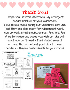 Valentine's Day Emergent Reader!