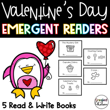 Valentine's Day Emergent Readers {Set of 5 Read and Write Books}
