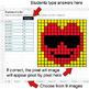 Valentine's Day Emoji - Fractions of a Set - Google Sheets Pixel Art