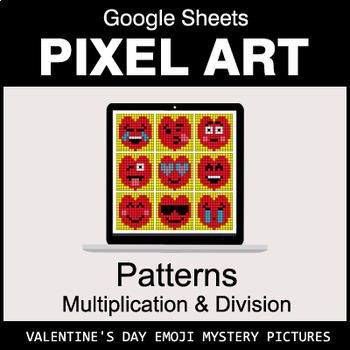 Valentine's Day Emoji - Number Patterns: Multiplication & Division - Google