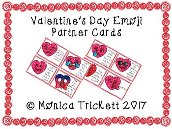 Valentine's Day Emoji Partner Cards