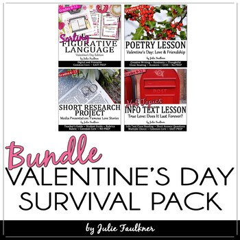 Valentine's Day English Lessons for Teens, BUNDLE