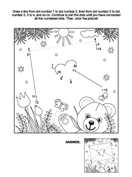 Valentine's Day Envelope Connect the Dots and Coloring Page, CU