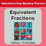 Equivalent Fractions - Color-By-Number Valentine's Math My