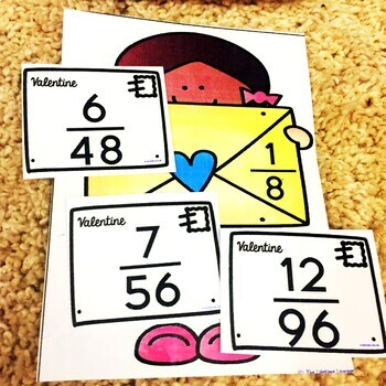 Valentine's Day Equivalent Fractions Game