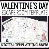 Valentine's Day Escape Room Activity TEMPLATE
