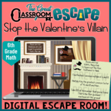 Valentine's Day Escape Room Activity with Sixth Grade Math Content
