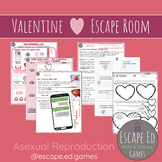 Valentines ASEXUAL REPRODUCTION Science Escape Room High School Middle School