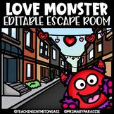 Valentine's Day Escape Room (Editable Escape Room Valentine Activities)