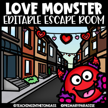 Valentine's Day Escape Room (Editable Escape Room Valentine Activities)