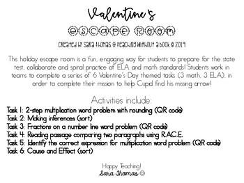 Valentine's Day Escape Room Grade 3