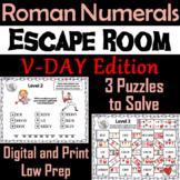 Valentine's Day Escape Room Math: Roman Numerals Game (4th 5th 6th 7th Grade)