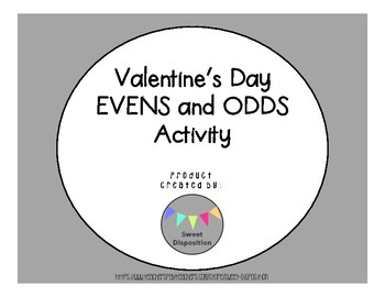 Valentine's Day Evens and Odds Activity
