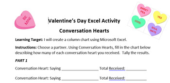 Valentine's Day Excel Project: Create a Chart