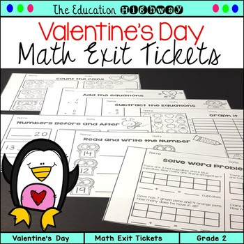 Valentine's Day Exit Tickets
