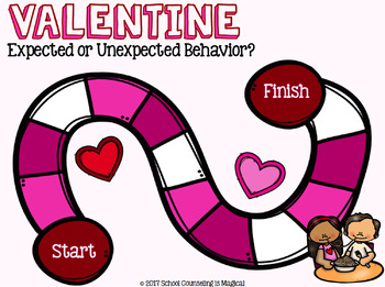 Valentine's Day Expected Vs. Unexpected Behavior Board Game