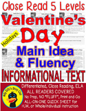 Valentine's Day FACTS 5 Levels Differentiated Close Read M