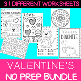 Valentine's Day - NO PREP Activity Centre BUNDLE
