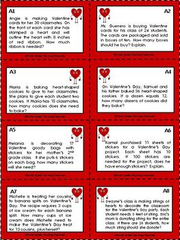 Valentine's Day FREEBIE!/Multiplication & Division Task Cards