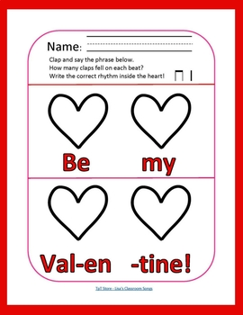 Valentine's Day FREEBIE | Primary Music Printables | Music Theory 3-Pack