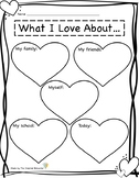 Valentine's Day FREEBIE: What I Love About... Worksheet
