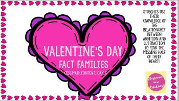 Valentine's Day Fact Family Match Up