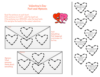 Valentine's Day Fact and Opinion