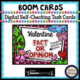 Valentine's Day Fact or Opinion Boom Cards