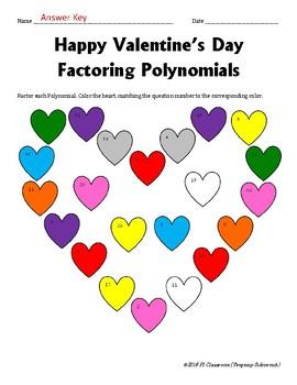 Valentine's Day - Factoring Polynomials