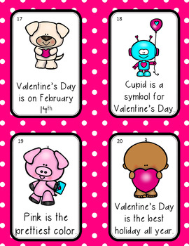 Valentine's Day Facts and Opinions Literacy Activity