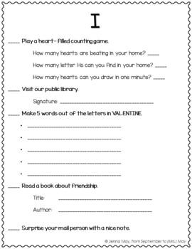 Valentines Day, February Homework Bingo Board: Cupid Edition