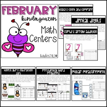 Valentine's Day {February} Kindergarten Math and Literacy Centers