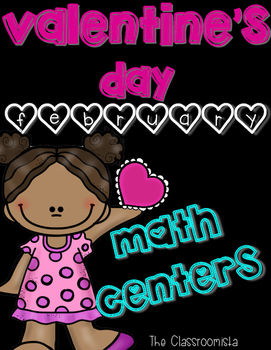 Valentine's Day February Math Centers: Addition, Ten Frames, Number Bonds