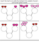 Valentine's Day February Math Centers: Addition, Ten Frame