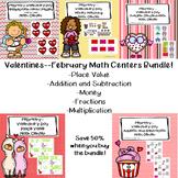 Valentine's Day--February Math Centers Bundle