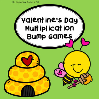 Valentine's Day/February Multiplication Bump Games