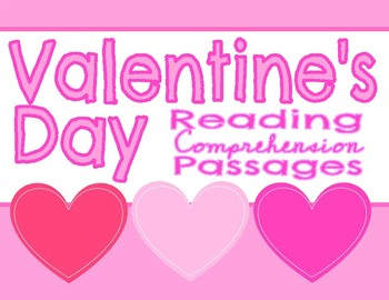 Valentine's Day Fiction Reading Comprehension Passages & Questions