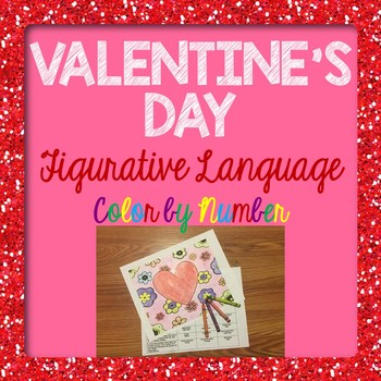 Valentine's Day Figurative Language Color by Number